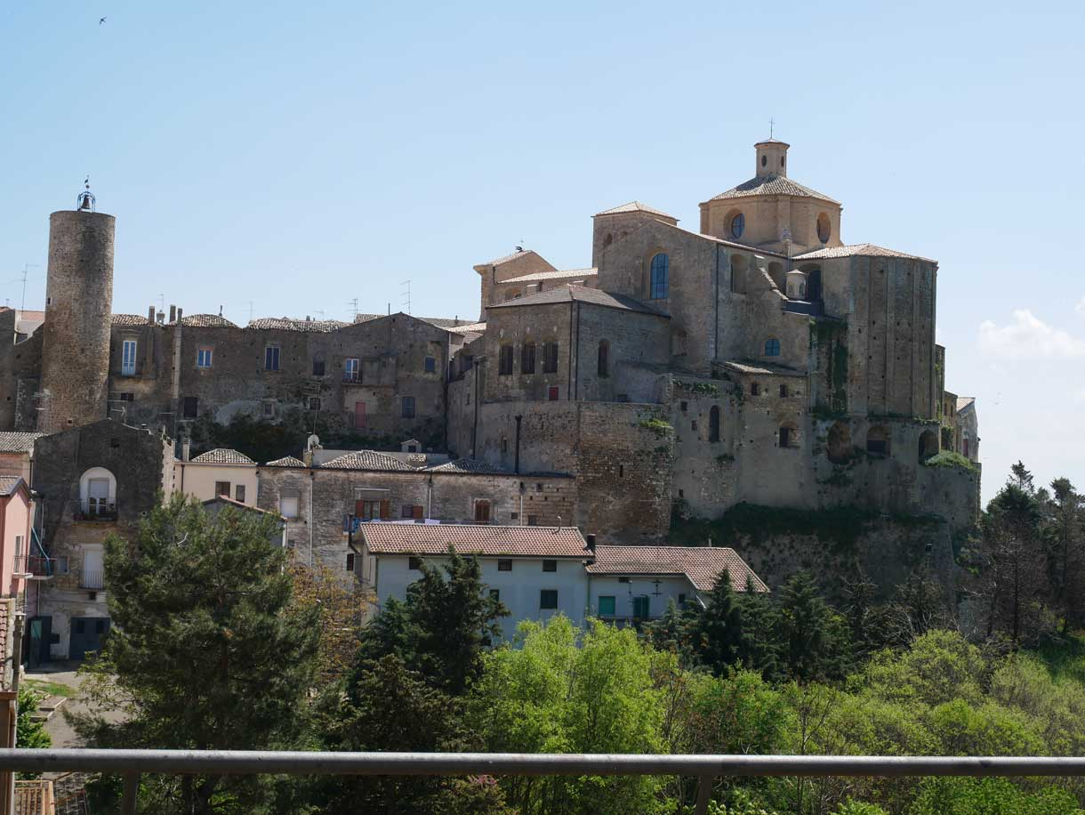 The beautiful town of Irsina, in province of Matera