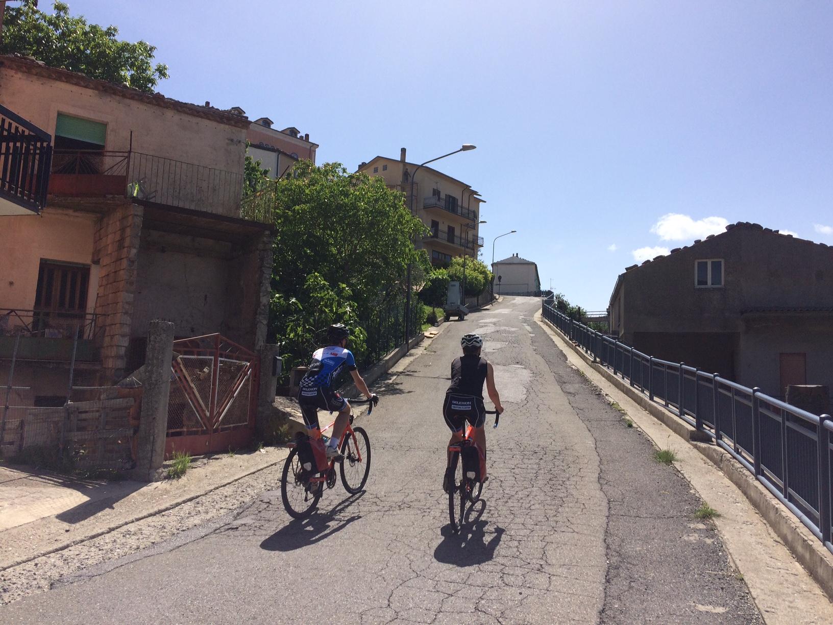 Jan and Veerle cycling in Terranova del Pollino