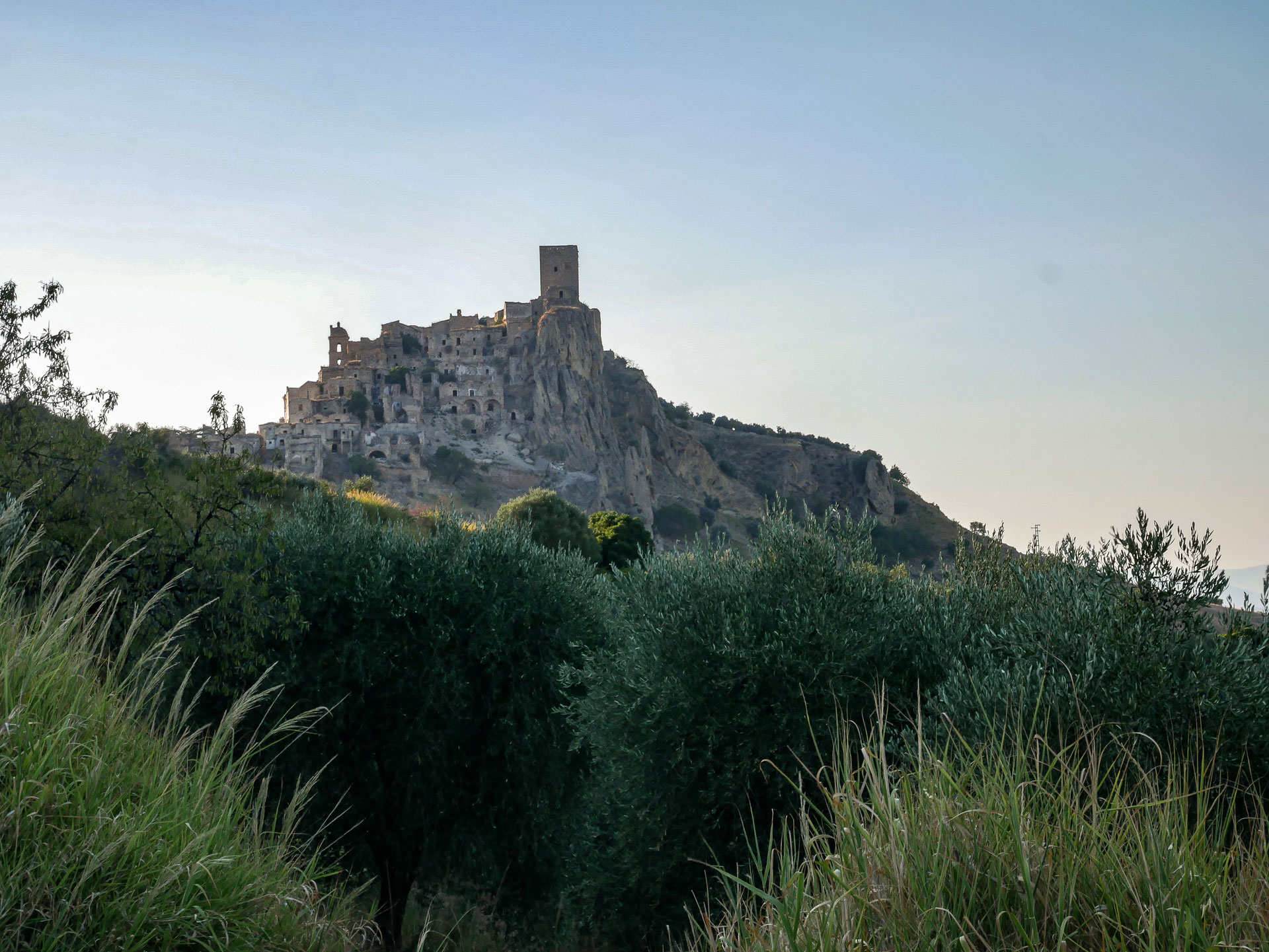 Another view of Craco, the ghost town