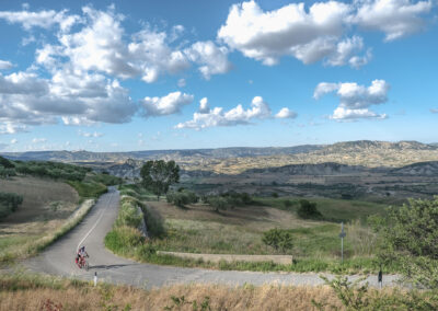 The Calanchi Valley by bike in Basilicata
