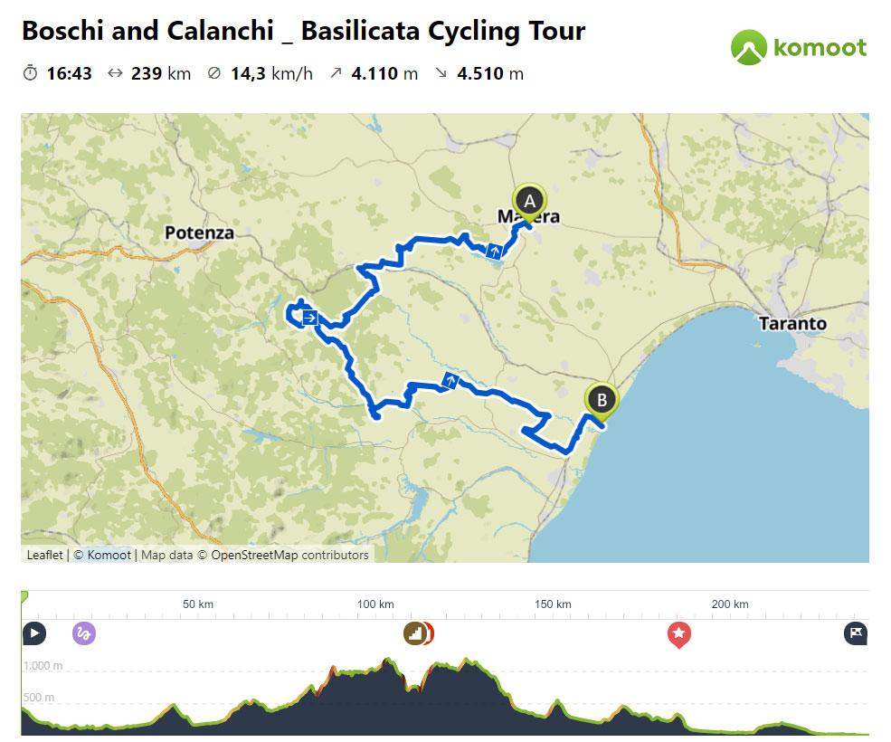 Boschi e Calanchi in Bicicletta - Mappa